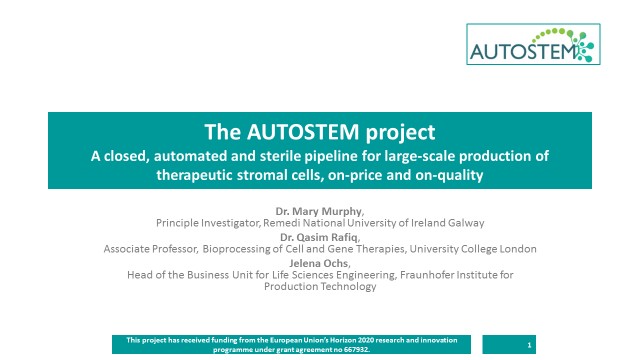 Advanced Therapies & Regenerative Medicine 2018 features AUTOSTEM